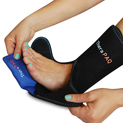 Foot & Ankle Ice Pack Wrap With 2 Hot/Cold Gel Packs By Thera Paq | Foot Pain Relief For Achilles Ten