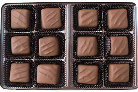 Vermont Nut Free Chocolates Boxed Chocolate Caramels (Milk Chocolate) 12-Piece