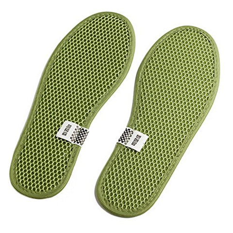 Premium Natural Bamboo Cushion Insole Sport Deodorant Insoles, 2 Pair A