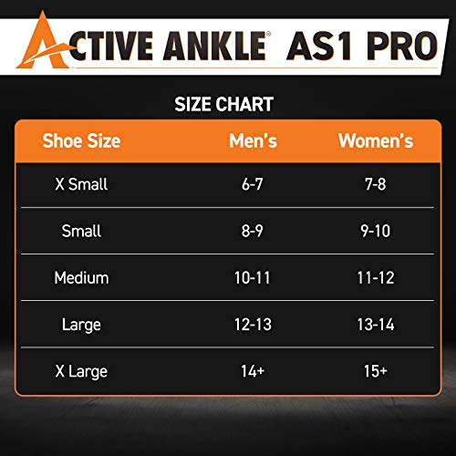 Active Ankle 329 Ankle Brace, White Ankle Compression Sleeve with Straps for Men & Women, Braces for Volleyball, Football, Basketball, Rugby, Protection & Sprain Support, Large