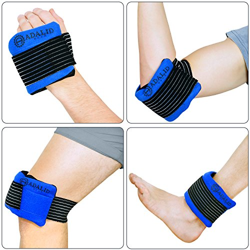 Pain Relief Gel Ice Pack with Wrap for Hot and Cold Therapy: Microwavable, Flexible, Reusable (for Small Body Parts or Limbs Only)