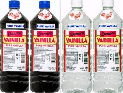 4 X Mixed Danncy Pure Mexican Vanilla Extract From Mexico 33oz Each 4 Plastic Bottle Lot Sealed