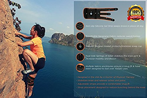 Cs Speed Knee Brace Support Breathable Sleeve with Stabilizer and Neoprene Knee Pads Protector For Arthritis ACL Running Basketball Meniscus Tear Athletic Open Patella Protector Wrap Relieves Pain