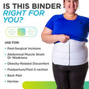 Image of BraceAbility 2XL Plus Size Bariatric Abdominal Stomach Binder | Obesity Girdle Belt for Big Men & Women with a Large Belly, Post Surgery Tummy & Waist Compression Wrap