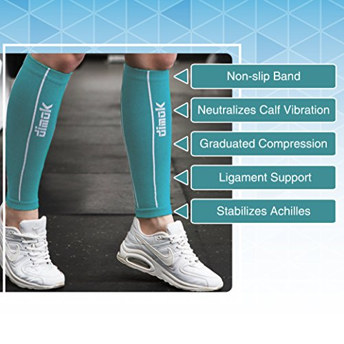 Dimok Calf Compression Sleeves â?? Compression Socks Footless   Reduces Fatigue Varicose Veins Muscl