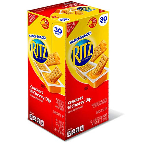 Nabisco Handi-Snacks Ritz Crackers ??N Cheesy Dip 95 oz, 30 pks. (pack of 3) A1