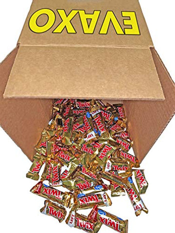 LUV BOX - Twix Caramel Fun Size Chocolate Cookie Bar Candy, Treat Size Bulk Pack (Pack of 3 Pounds)