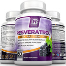 Image of Bri Resveratrol   1200mg Potent Trans Resveratrol Natural Antioxidant Supplement With Green Tea And