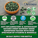 Image of Organic Spirulina Tablets, 100% USDA Organic, Premium Quality 4 Organic Certifications, Non-GMO, No Additives Capsules or Fillers, 120 Count 1 Month Supply