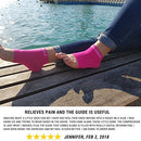 Image of Plantar Fasciitis Compression Socks - Foot Care Sleeves - BeVisible Sports - Best for Heel, Arch & Ankle Brace Support - Boosts Circulation, Aids Relief & Fast Recovery - (Neon Pink, Large)