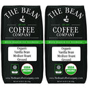 Image of The Bean Coffee Company Organic Vanilla Bean, Medium Roast, Ground, 16-Ounce Bags (Pack of 2)