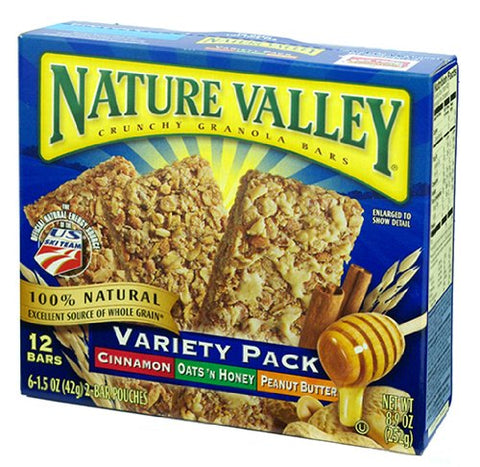 Nature Valley Crunchy Granola Bars - Variety Pack - 0.74 oz - 12 ct