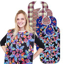 "Image of RMS Adult Bib Washable Reusable Waterproof Clothing Protector with Vinyl Backing 34""X18"", Designer Patterns (Vivid Butterfly)"