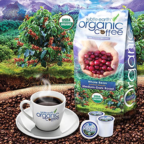 2LB Cafe Don Pablo Subtle Earth Organic Gourmet Coffee - Medium Dark Roast - Whole Bean Coffee - USDA Organic Certified Arabica Coffee by CCOF - (2 lb) Bag