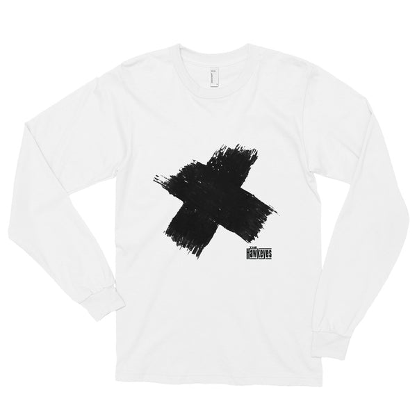 White Long Sleeve X Tee