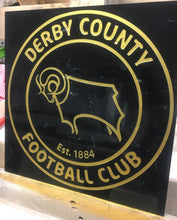 Load image into Gallery viewer, Marble Feature tile - any  football club crest- Badge - Plaque.