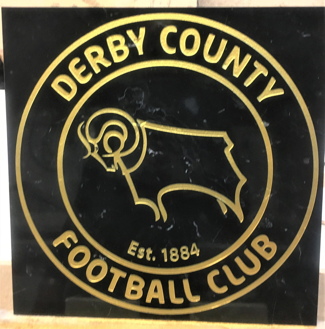 Marble Feature tile - any  football club crest- Badge - Plaque.