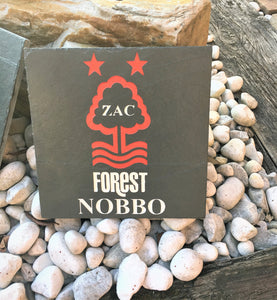 Deep Engraved Natural Slate Personalised Football Club logo and Name Plaque