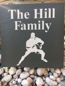 Deep Engraved Natural Slate Personalised Family Name Plaque