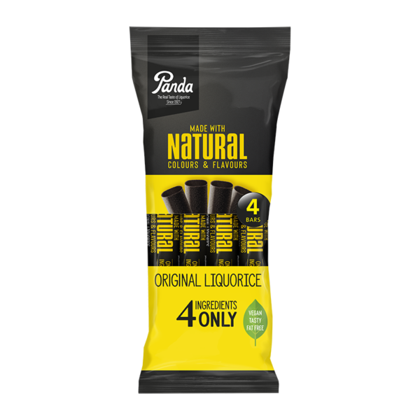 Panda Natural Liquorice Bars 4x32g