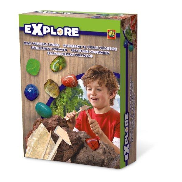 Excavate real precious stones kit