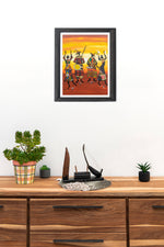 Large Canvas Painting of African Culture- Senegal - Pendza