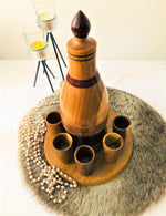 Wooden Bottle and Cup set - El Salvador - Pendza