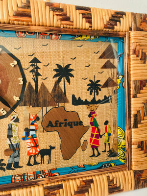 Large and Unique Wall Clock/ Painting- Cameroon - Pendza