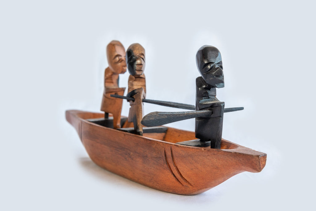 Hand-Carved traditional Canoe From Cameroon - Pendza