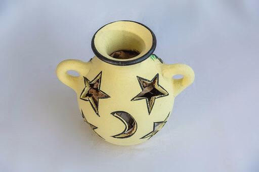 Ceramic Candle Holder From El Salvador - Pendza