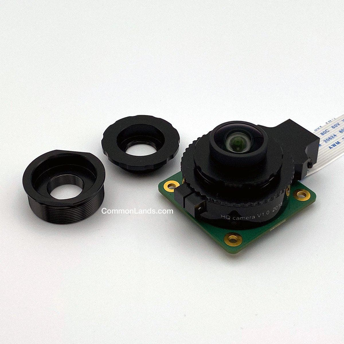 An M12 to CS mount adapter for S Mount Lenses and the Raspberry Pi High Quality.