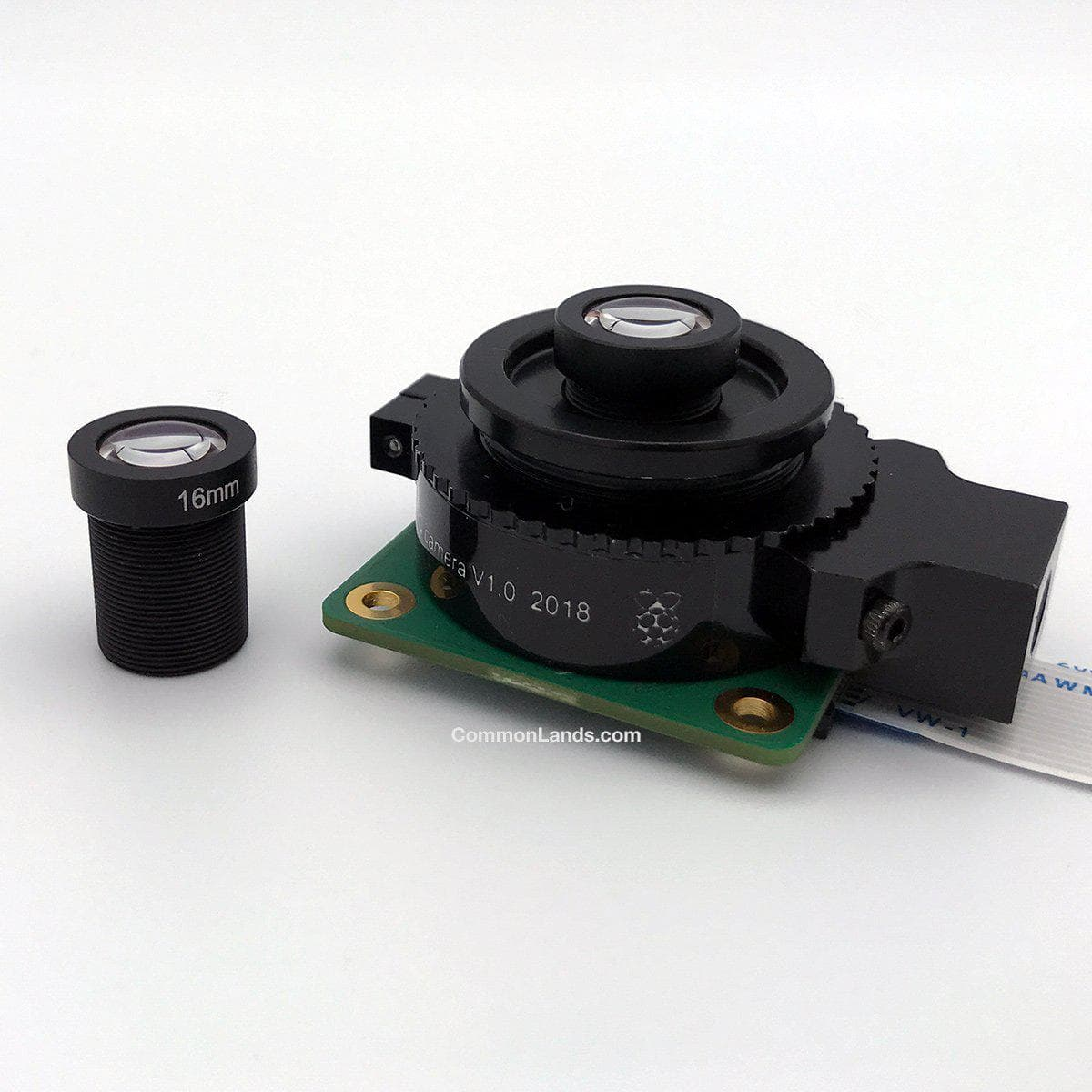 A 16mm M12 lens with the Raspberry Pi High Quality Camera.
