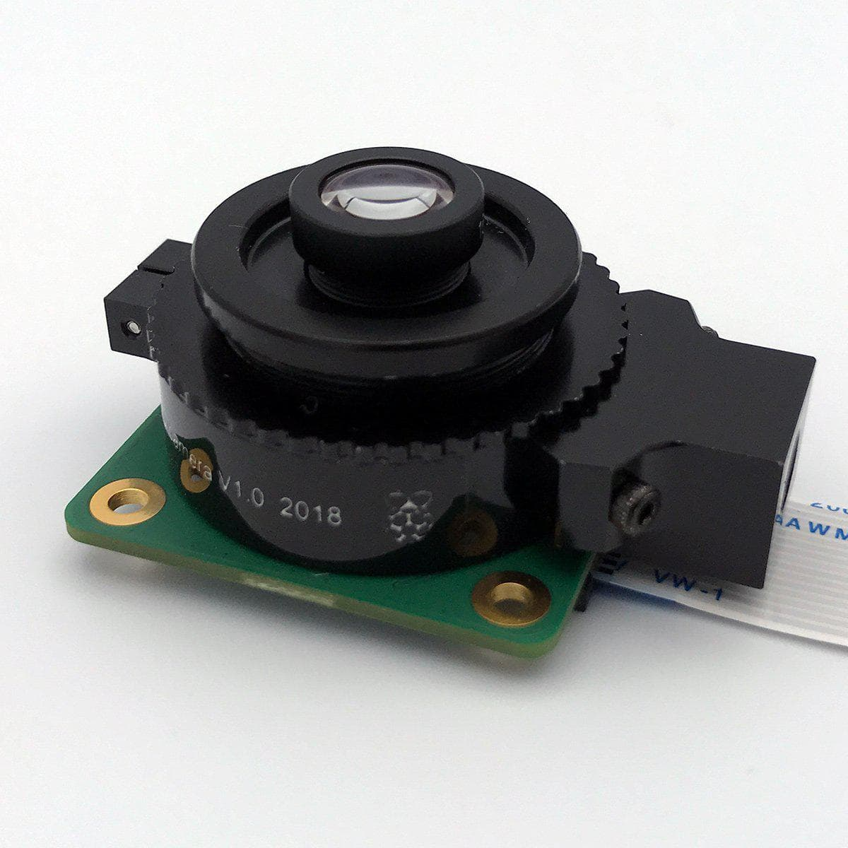 A 16mm M12 lens assembled with the Raspberry Pi High Quality Camera.