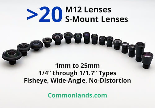M12 Lenses for S-Mount Cameras, with a Lens Selection Chart
