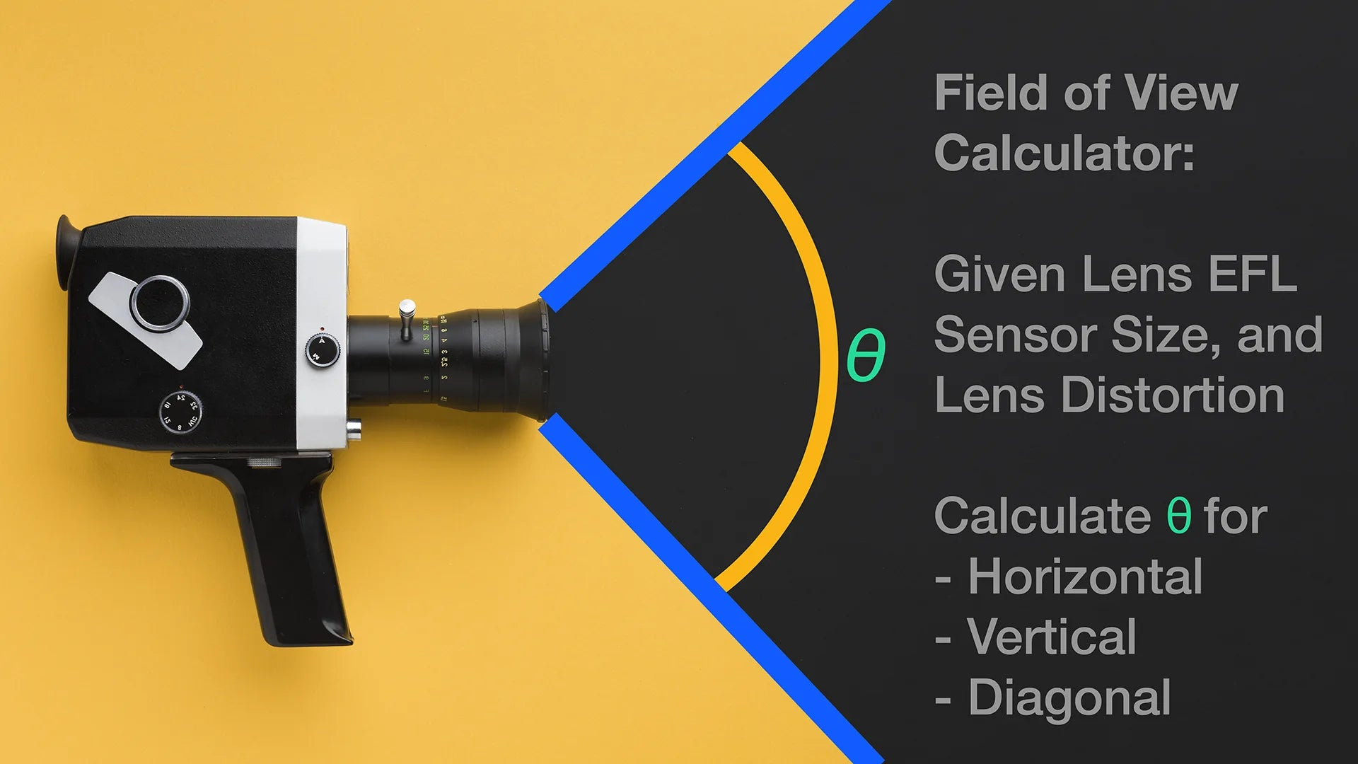 How to focus a camera with correct Field of View Information