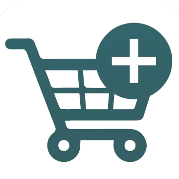 A shopping cart icon