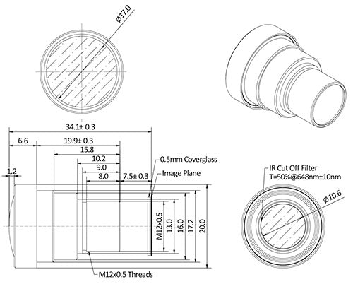 A 25mm M12 Lens for Telephoto applications