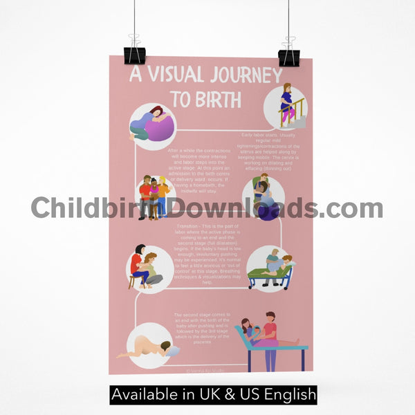 A Visual Journey To Birth Poster Digital File