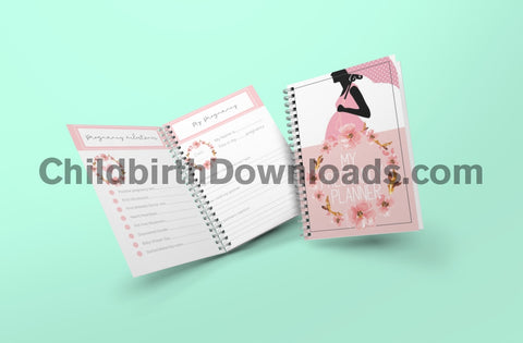 Beautiful 65 Page Downloadable Pregnancy Planner Journal With Birth Tips And Checklist Digital File