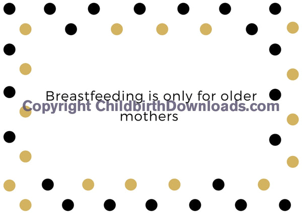 Set Of 21 X Breastfeeding Myths And Facts Discussion Cards Digital File
