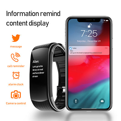 COOCAA Smart Band With Bluetooth 3.0 Smart Band Watch Weather Message Fitness Band Smart Watch