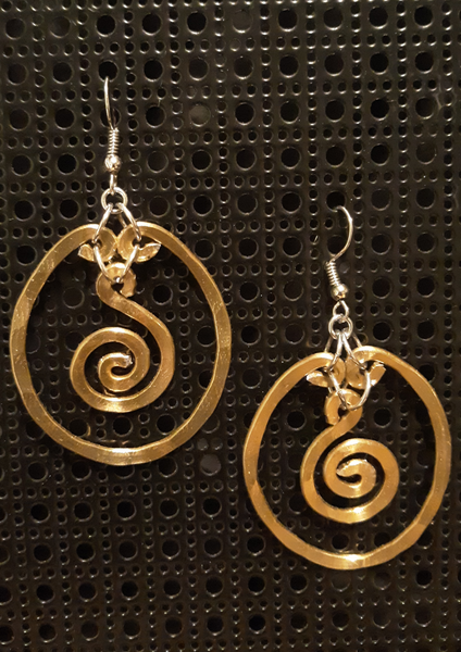 Handmade Gold Aluminum Hammered Earrings