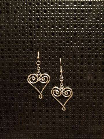 Handmade Aluminum Heart Earrings