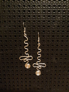 Handmade Aluminum Squiggle Earrings