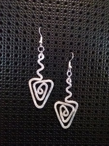 Handmade Aluminum Hammered Earrings
