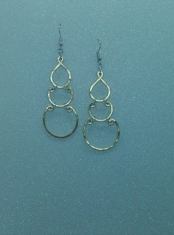 Handmade Gold Aluminum Earrings Small