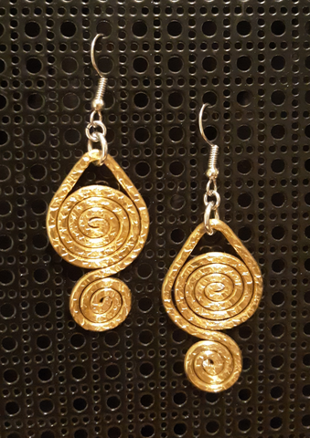 Handmade Gold Aluminum Earrings