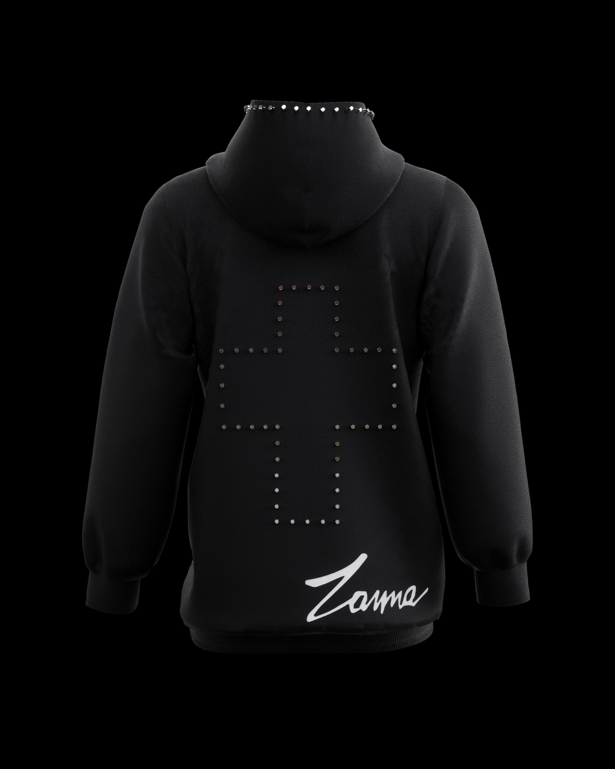 "Limited Edition Black ""Studded"" hoodie 2020 - ZANNA"