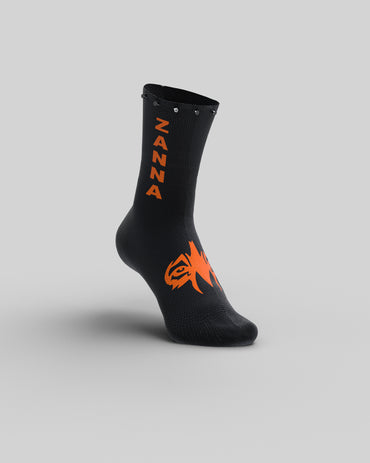 "Black & O-Fluo | ""Studded"" Sock - ZANNA"