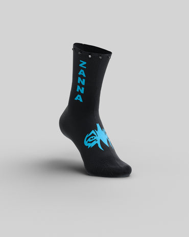 "Black & Blue | ""Studded"" Sock - ZANNA"